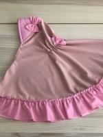 ผ้าคลุมเด็ก เนื้อผ้ายืด ระบายชาย แต่งโบว์ สม๊อคหลัง HB02-003