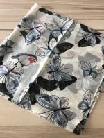 ผ้าพันคอ ผ้าคลุม ไหมญี่ปุ่น สกรีนลาย SJ01-018