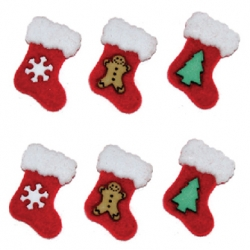 Holiday Stockings Button