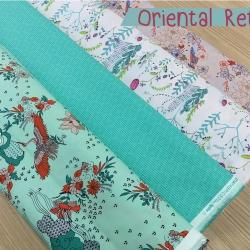 เซ็ตผ้าพิมพ์คลาสตัดเสื้อ Oriental Retro