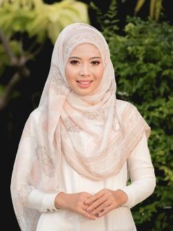 ผ้าคลุม อิสลาม วิสคอส viscose พิมพ์ลาย HJ07049-1