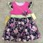 เสื้อผ้าเด็ก 5-7ปี size 5Y-6Y-7Y ลายดอกไม้ แต่งผีเสื้อ สีชมพู/กรมท่า thumbnail 1