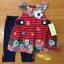เสื้อผ้าเด็ก เซตเสื้อ-เลกกิ้ง-สายคาดผม 0-9 เดือน size 3m-6m-9m ลายดอก สีแดง-ดำ thumbnail 1