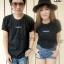 เสื้อคู่แนวๆ เสื้อยืดคู่รักสีดำสกรีน Bangkok thumbnail 1