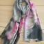 ผ้าพันคอ ผ้าคลุม ไหมญี่ปุ่น สกรีนลาย SJ01-015 thumbnail 2