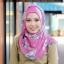 ผ้าคลุม อิสลาม วิสคอส viscose พิมพ์ลาย ดอกไม้ โทนชมพู HJ07008 thumbnail 4