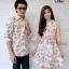 ชุดคู่รักเดรสสวยๆออกงาน ชุดลายดอกสีโทนชมพูหวานๆ thumbnail 2