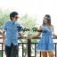 ชุดคู่รักสวยๆ ชุดคู่รักพร้อมส่ง สีฟ้า-ขาวสดใส pattern และDesignเก๋ๆ thumbnail 1