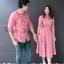 เสื้อเชิ้ตคู่ลายสก็อตโทนสีแดง thumbnail 2