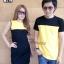 ชุดคู่รัก ชุดคู่ เป็นสีทูโทนเหลืองดำ สีสันสดใส thumbnail 1