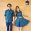 เสื้อคู่รัก โทนสก็อตเขียว เสื้อคู่เกาหลีคอบัวแขนกุดมาพร้อมกับกระโปรง thumbnail 2