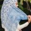 ผ้าคลุม อิสลาม วิสคอส viscose พิมพ์ลาย HJ07016-1 thumbnail 4