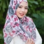 ผ้าคลุม อิสลาม วิสคอส viscose พิมพ์ลาย ดอกกุหลาบ HJ07022-1 thumbnail 1