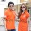 เสื้อคู่รักโปโล เสื้อคู่สวยๆมาอีกแล้วเป็นโปโลสีส้มออกแนวสปอร์ต thumbnail 2