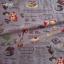 ผ้าญี่ปุ่น YUWA (ลายเค้ก พื้นม่วง) thumbnail 1