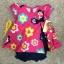 เสื้อผ้าเด็ก เซต 3ชิ้น ขาสั้น แรกเกิด-9 เดือน size 3m-6m-9m ลายดอกไม้ สีบานเย็น thumbnail 1
