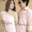 ชุดคู่รักออกงาน เสื้อเชิ๊ตแขนยาวสีชมพูโอรส มาพร้อมกับเดรสทรงเข้ารูปพอดีตัว thumbnail 4