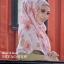ผ้าคลุม อิสลาม วิสคอส viscose พิมพ์ลาย ดอกกุหลาบ HJ07024-1 thumbnail 1