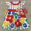 เสื้อผ้าเด็ก 1-2ปี size 12m-18m-24m ลายดอกไม้ พื้นหลังสีขาว thumbnail 1
