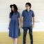 ชุดคู่ผ้ายืดเสื้อโปโลชายมาคู่กับเดรสผู้หญิงคอจีน (คอเต่า) thumbnail 1