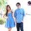 ชุดคู่รักเดรส ชุดคู่สีฟ้าสดใส ลายจุดสีขาว น่ารักมากๆ มาตามคำเรียกร้อง thumbnail 1