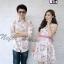 ชุดคู่รักออกงาน ชุดลายดอกสีโทนชมพูหวานๆ thumbnail 2