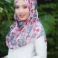 ผ้าคลุม อิสลาม วิสคอส viscose พิมพ์ลาย ดอกกุหลาบ HJ07022-1 thumbnail 3