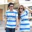 เสื้อคู่โปโล เสื้อคู่รักโปโลโทนสีน้ำเงินฟ้า ลุคแนวสปอตๆ สดใสม๊าก thumbnail 1
