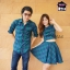 เสื้อคู่รัก โทนสก็อตเขียว เสื้อคู่เกาหลีคอบัวแขนกุดมาพร้อมกับกระโปรง thumbnail 1