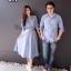 เสื้อคู่รักลายสก็อตโทนสีฟ้า thumbnail 3