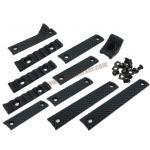 URX D Rail Cover Set สีดำ