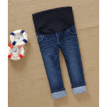 กางเกงยีนส์คนท้อง สีส่วน มีผ้าผยุงครรภ์ สามารถปรับสายเลื่อนได้ตามอายุครรภ์