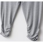 กางเกงเลคกิ้งคนท้อง ทรงสาม สี่ส่วน เนื้อผ้ายืด มีสายปรับอายุครรภ์ ชายกางเกงย่น