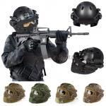 หมวก Fast Helmet PJ Type รุ่นปรับท้ายทอย พร้อมหน้ากาก BB Gun