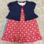 LY0816-9 ชุดเซต กระโปรงเด็ก+เสื้อคลุม