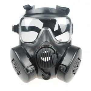 หน้ากากแก๊ส M50 สีดำ มีพัดลมระบายอากาศ
