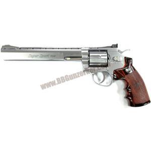 ปืนลูกโม่ 8 นิ้ว อัดแก๊ส Co2 สีเงิน - WinGun 703s