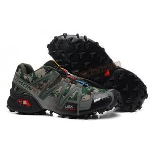 รองเท้า Salomon SpeedCross 3 ลายพรางดิติตอลเขียว