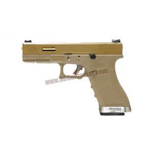 Glock17 T9 Gen4 สไลด์ทราย ท่อทอง เฟรมทราย WE