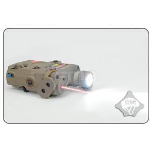 ไฟฉาย+เลเซอร์แดง AN / PEQ-15 สีทราย + สวิทซ์หางหนู - FMA
