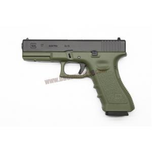 R17 : Glock17 Gen3 ทูโทน ดำ/เขียว - ARMY Armament
