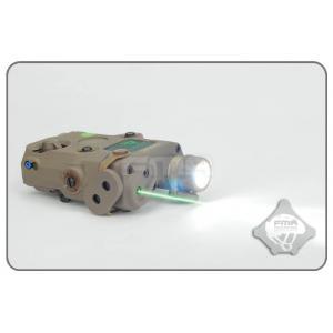 ไฟฉาย+เลเซอร์เขียว AN / PEQ-15 สีทราย + สวิทซ์หางหนู - FMA