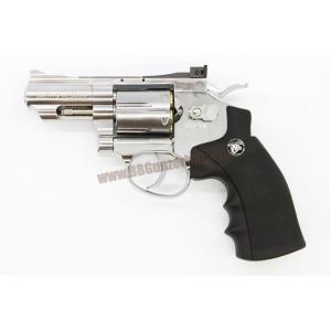 ปืนลูกโม่ 2.5 นิ้ว สีเงิน ยิงลาย S&W อัดแก๊ส Co2 - WinGun 708s