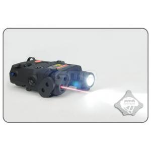 ไฟฉาย+เลเซอร์แดง AN / PEQ-15 สีดำ + สวิทซ์หางหนู - FMA