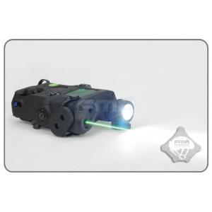 ไฟฉาย+เลเซอร์เขียว AN / PEQ-15 สีดำ + สวิทซ์หางหนู - FMA
