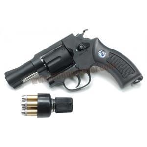 ปืนลูกโม่ 2.5 นิ้ว Sheriff M36 อัดแก๊ส Co2 สีดำ - WinGun 731