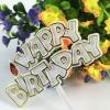 ป้ายพลาสติก Happy Birthday 10 ชิ้น/ชุด