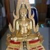 พระพุทธชินราช ภปร รุ่นพุทธณเลส สร้างจากทองเหลืองลงรักปิดทองแท้ ขนาดหน้าตัก 5.9 นิ้ว จัดสร้างโดยวัดพระศรีรัตนมหาธาตุวรมหาวิหาร รหัส 227