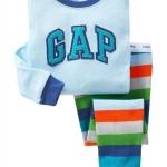 ชุดนอน Baby Gap ลาย GAP สีฟ้า แขนยาว