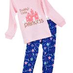 ชุดนอนเด็ก (งานส่งออก USA) ลาย Daddy's Little Princess สีชมพู-ฟ้า แขนยาว